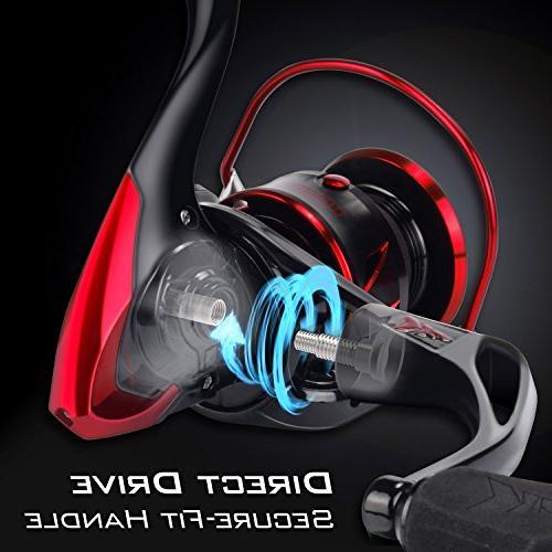 KastKing Sharky III Reel - New Spinning Reel - Carbon Fiber 39.5 Max - 10+1 Stainless for or Freshwater - Shaft Super