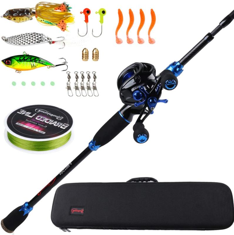 Sougayilang Fishing Rod and Reel Combos,24-Ton Carbon Fiber
