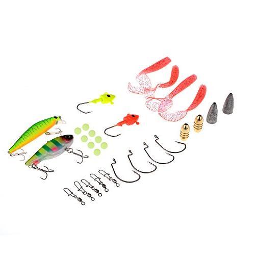 PLUSINNO and Reel Combos Telescopic Fishing Rod Reel Freshwater Fishing Kit