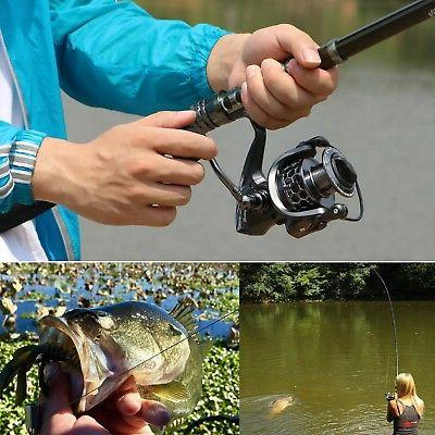 Sougayilang Spinning Fishing Rod and Telescopic Pole reels for Travel Freshwater Fishing