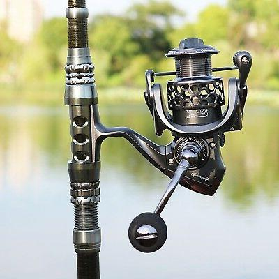 Sougayilang Spinning Rod and Combos Portable Telescopic Pole Spinning reels for Freshwater