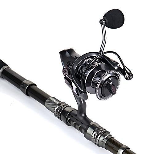 Sougayilang Fishing Rod with Spinning Reels Bag Freshwater Fishing