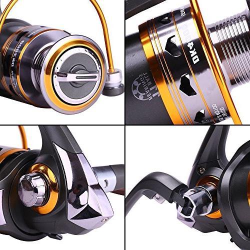 Sougayilang Spinning Reel Interchangeable Handle 11bb 1000-4000 Fishing Reels