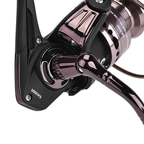 PLUSINNO Spinning Rod Reel Combos Telescopic Fishing with Reel Hooks Fishing Carrier Case and Accessories Gear Organizer