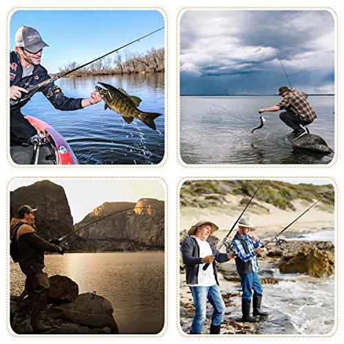 PLUSINNO Reel Kit, Spinning Organizer Pole Hooks Fishing Bag Case