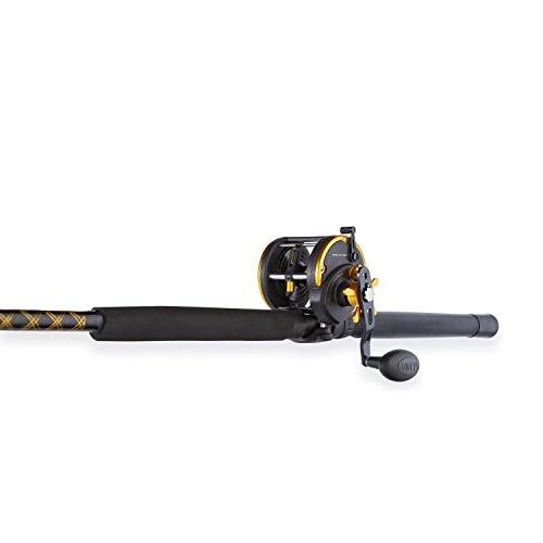 Penn Squall Wind Fishing and Trolling Reel Combo, Feet