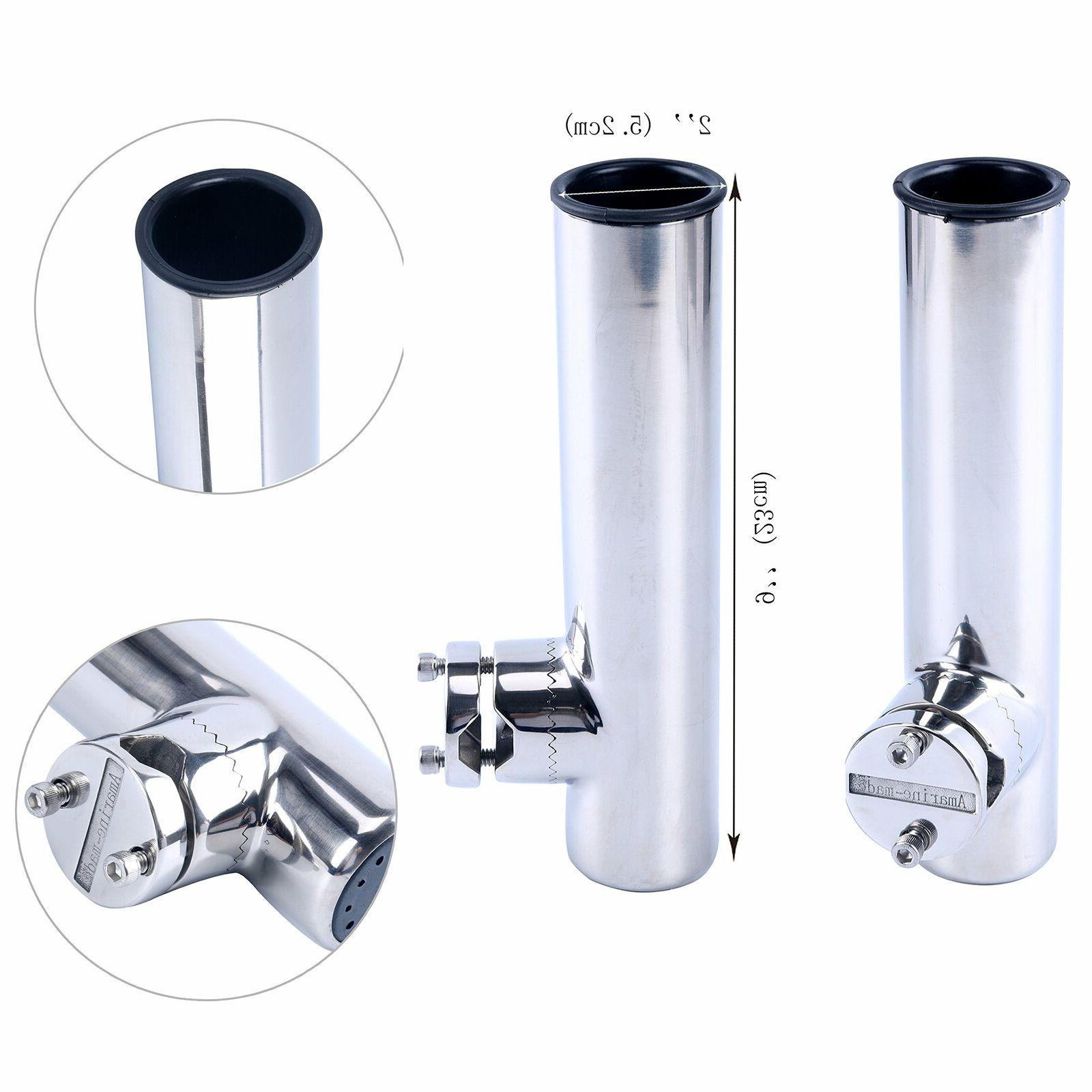 Amarine-made Stainless Clamp on Fishing Rod Holder for Rails