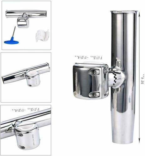 1PC Stainless Clamp on Adjustable Fishing Rod Holder for Rai