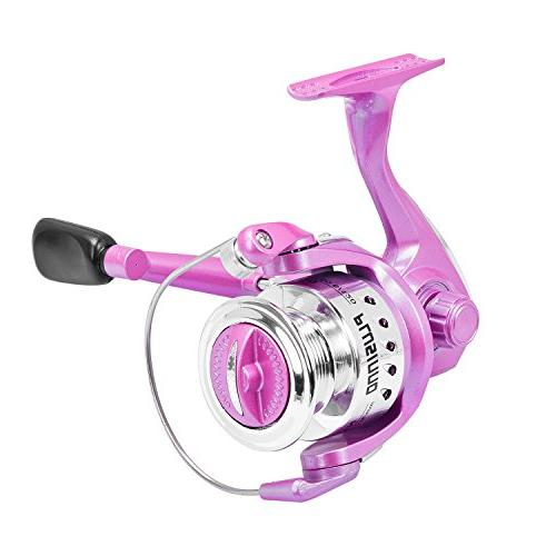 PLUSINNO Telescopic Rod Fishing Pole Pink for Ladies Fishing