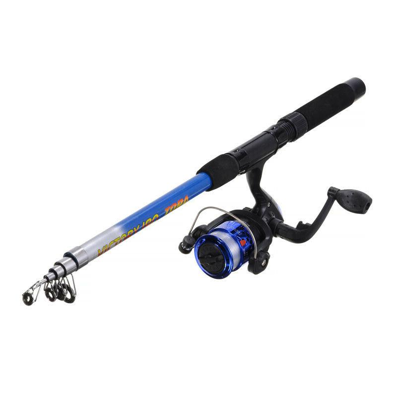 Telescopic Fishing Rod Line Full Spinning Reel Set