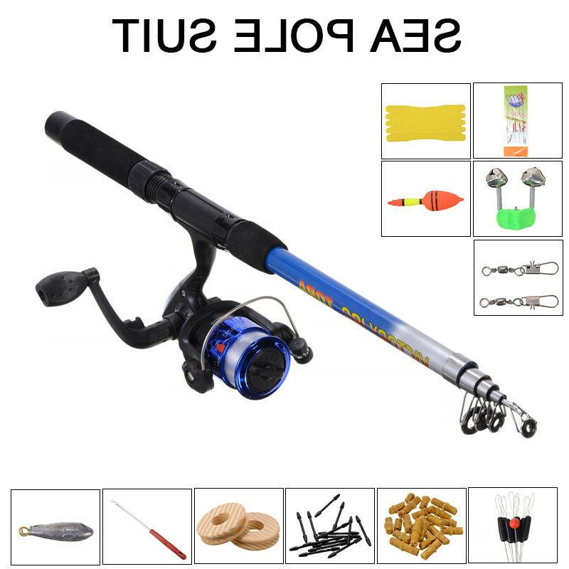 telescopic fishing rod reel line combo full