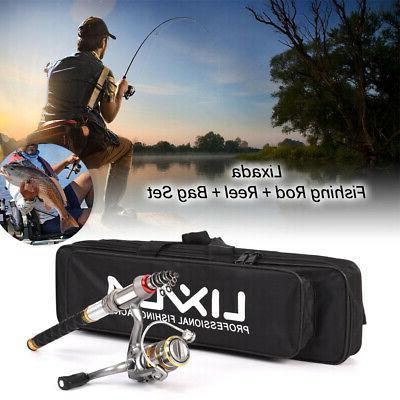 2 4m telescopic fishing rod and reel