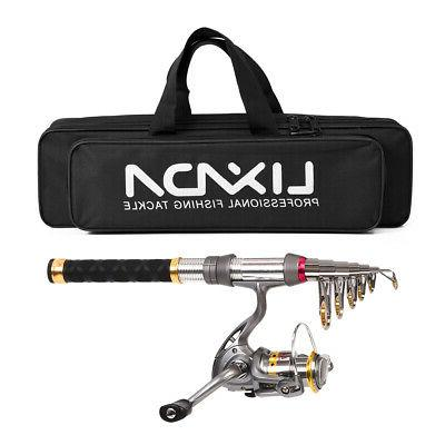 Fishing Rod Reel Combo Carbon Fiber Telescopic Fishing Pole