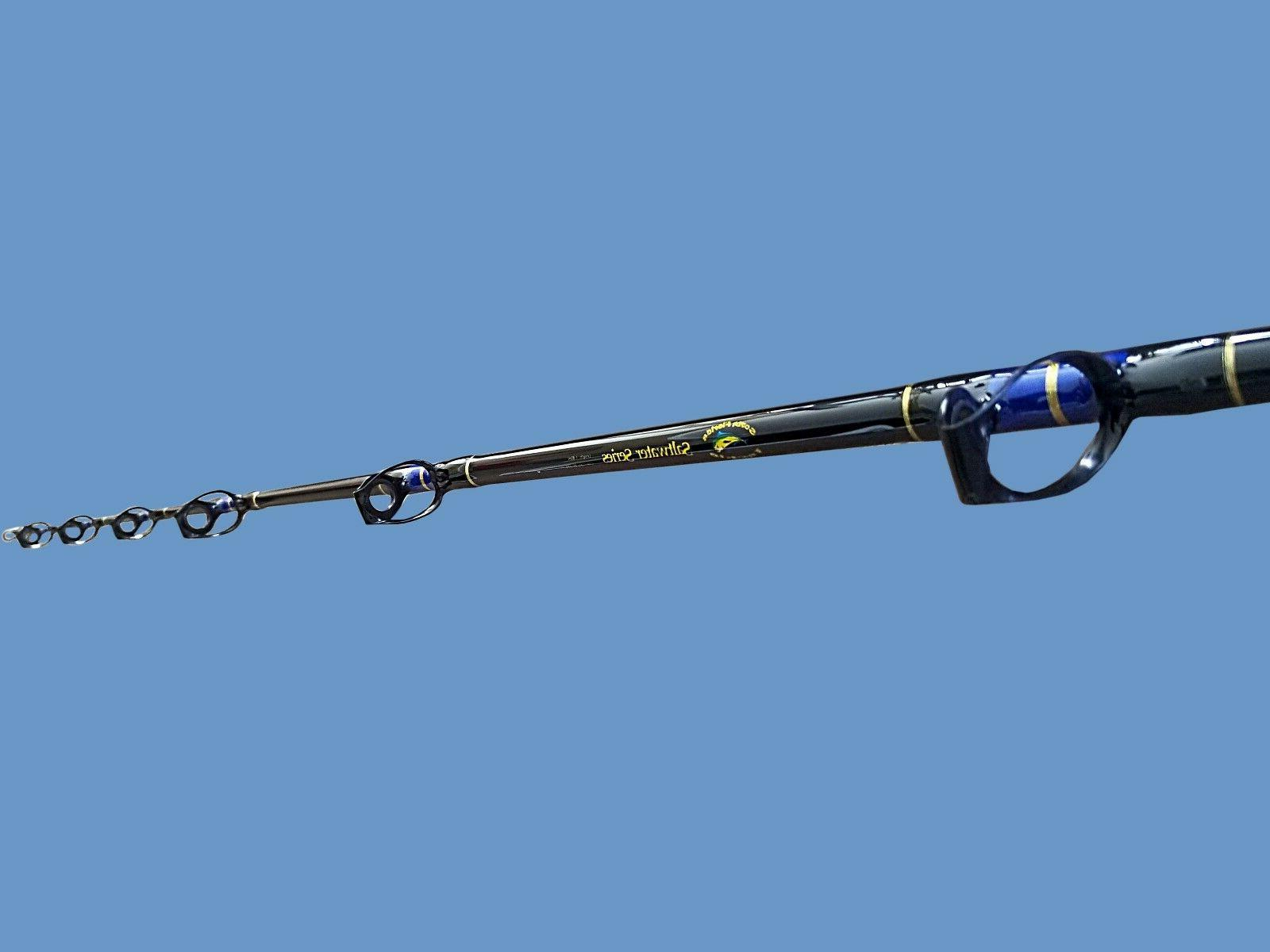 20-30 Lb Solid Blank Trolling Fishing Rods Two Four Pack