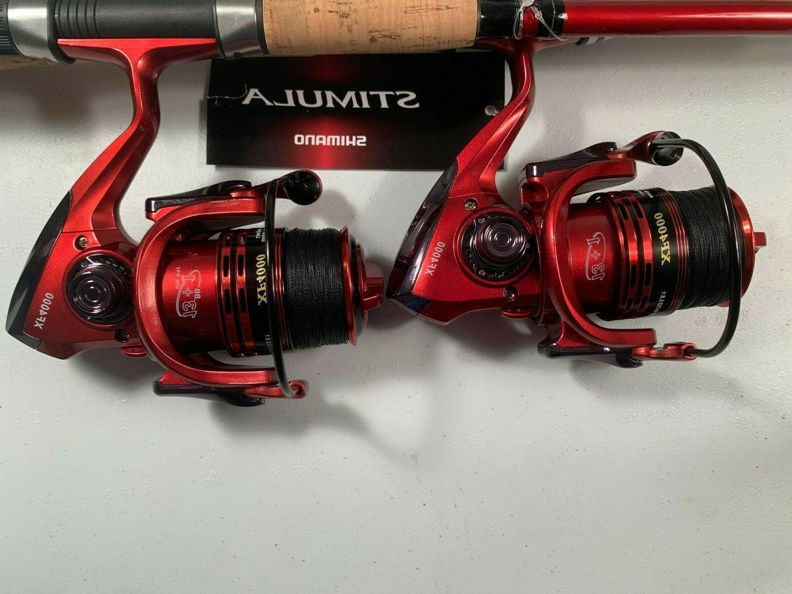 Two Shimano Stimula 6½' Rod & XF4000  Reel  Combos