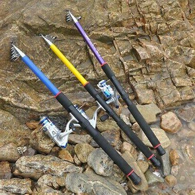 US 2.1-3.6M Fishing Ultralight Carbon Fiber Telescopic
