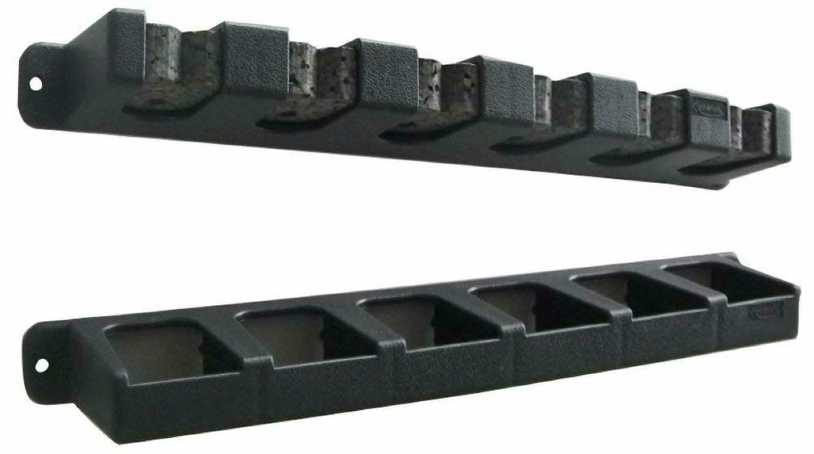 Vertical -6 Rod Rack  Black