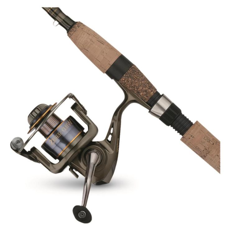 wild series walleye spinning fishing rod combo