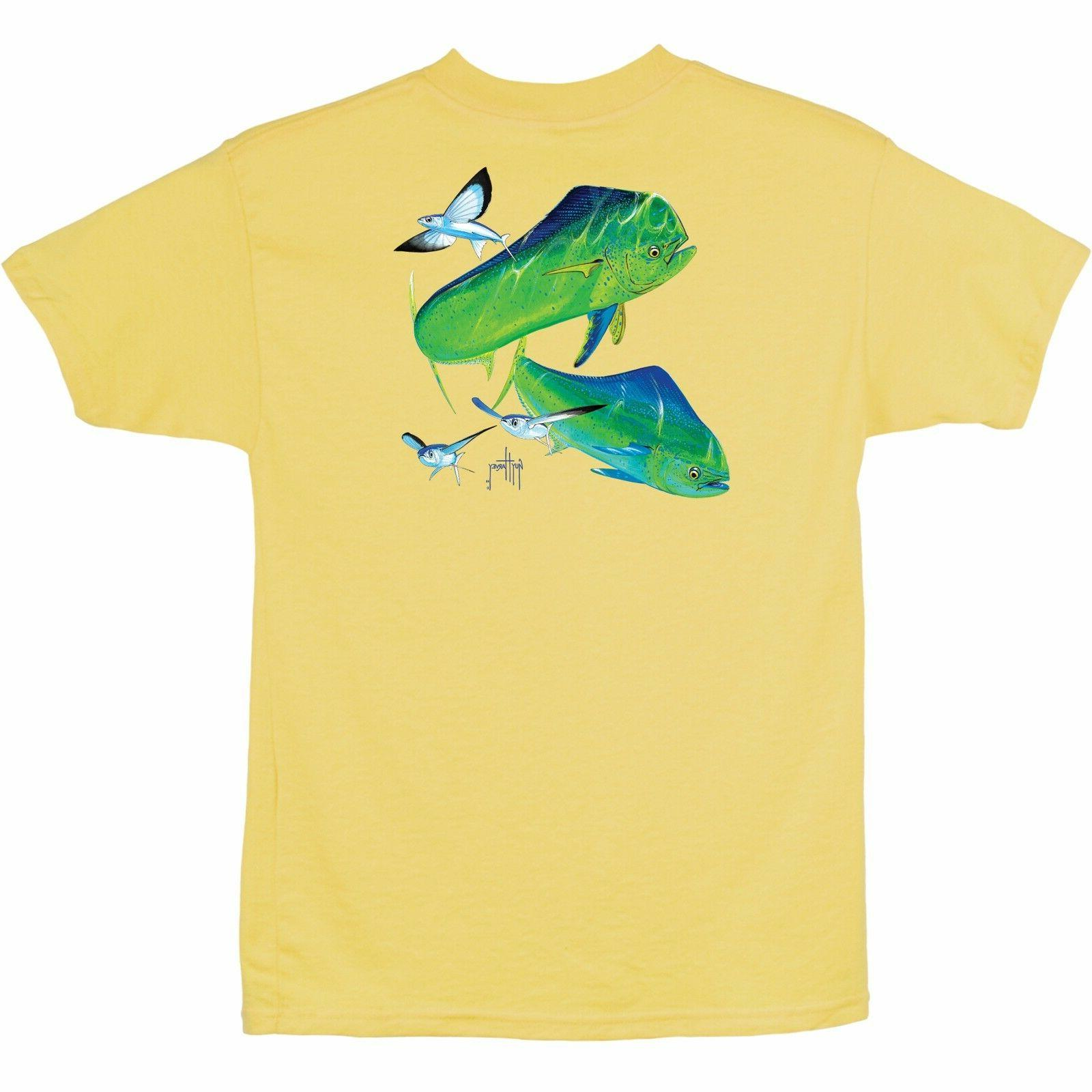 youth mahi time ss tee fishing shirt