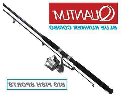QUANTUM ZEBCO 8' BLUE RUNNER Fishing Combo Spinning Rod and
