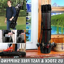 Large Fishing Rod Bag Fishing Accessories Pole Reel Tackle H