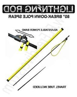 "Sea Stinger 80"" Lightning Rod 2 Piece Pole Spear with Travel"