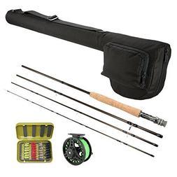 Lixada Lightweight Portable Fishing Rod Reel Combo Kit Set F