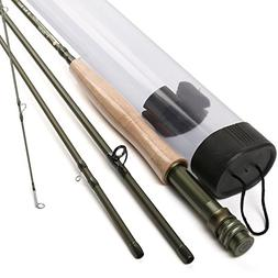 DAOUD-PRO Lightweight Ultra Portable Graphite Fly Fishing Ro