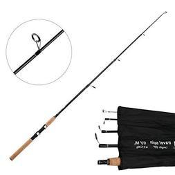 SANLIKE Lightweight Bass Fishing Rod - Portable Carbon Fiber