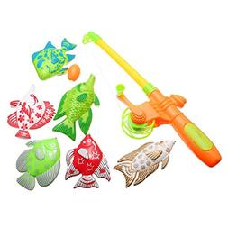 Magnetic Fishing Toy With 6 fish And a Fishing Rods Outdoor