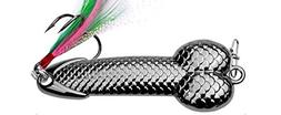 Feccile S-ports & Fit-ness Metal Spoon Fish Lures Feather Ba
