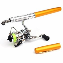 Mini Pen Type Fishing Rod Telescopic Fishing Pole with Metal