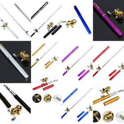 Mini Portable Combo Pocket Pen Fishing Rod Pole With Golden