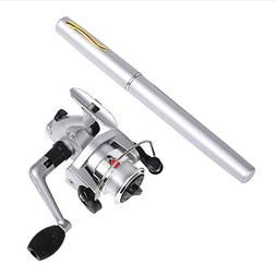 Gooteff 39inch Mini Portable Pocket Aluminum Alloy Fishing R
