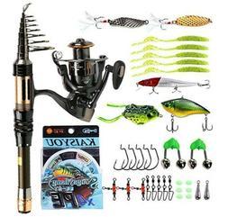 Sougayilang Mini Spinning Fishing Rod and Reel Combos Portab