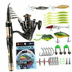 Mini Spinning Fishing Rod and Reel Combos Portable Pocket Te