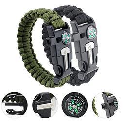 MAIBU Emergency Paracord Bracelets | Set of 2 | Embedded Com