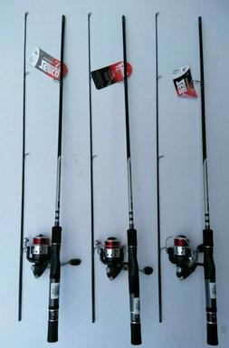 New Zebco 33sp Authentic Spinning Z-GLASS Rod Medium 6' REEL