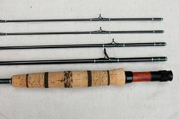New Custom Made 4 pcs 5 wt Fly Rod w/ 2 Tip Sections & New R