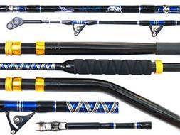 "NEW Big Game Fishing Rod 50/80lb Class EGlass 6'6"" w Straigh"