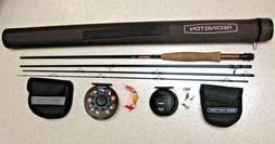 NEW REDINGTON REDFLY FISHING ROD CASE 2 REELS 5/6 REEL CROSS