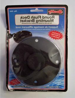 Scotty No. 344 Round Flush Deck Mounting Bracket Black