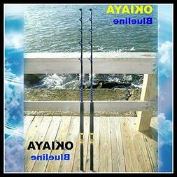 """SALTWATER FISHING RODS 30-50LB FISHING POLE """"BLUELINE"""" FOR P"""
