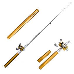 Tyjtyrjty New Arrival Pen Pole Miniature Fishing Rod with re