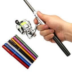 Pocket Collapsible Fishing Rod Reel Combo Mini Pen Pole Kit