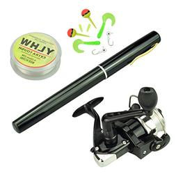 Multi Outools 38 Inches Pocket Pen Rod Set,Mini Fishing Rod