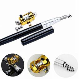 Ouguan Pocket Size Pen Shaped Collapsible Fishing Rod Pole a