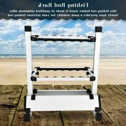 Portable 12 Rod Fishing Rod Rest Holder Stand Pole Rack Orga