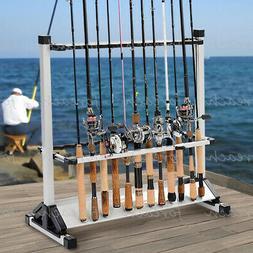 Aluminum Alloy Portable 24 Rods Rack Fishing Rod Pole Holder
