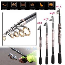 Portable Carbon Fiber Superhard Travel Telescopic Fishing Ro